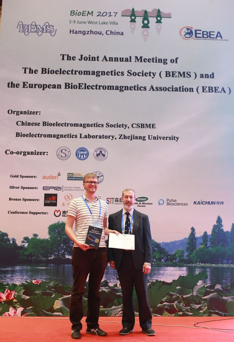 Manuel Murbach with BEMS president Andrew Wood