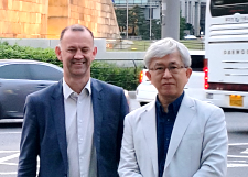 Luc Martens and Nam Kim in Seoul
